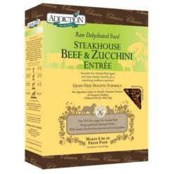 Addiction Raw Dehydrated Steakhouse Beef & Zucchini Dog Food