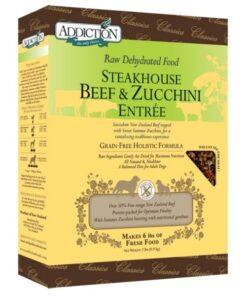 Addiction Raw Dehydrated Steakhouse Beef & Zucchini Dog Food