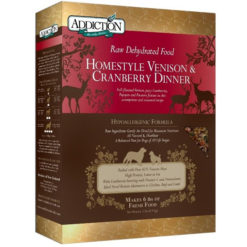 Addiction Raw Dehydrated Homestyle Venison & Cranberry Dinner Dry Dog Food