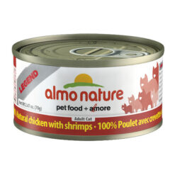Almo Nature Legend 100% Natural Chicken with Shrimps Canned Cat Food