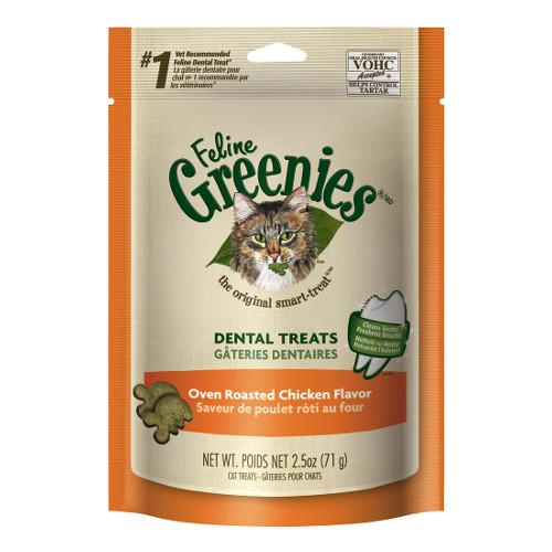 Greenies Feline Chicken Flavor Dental Cat Treats