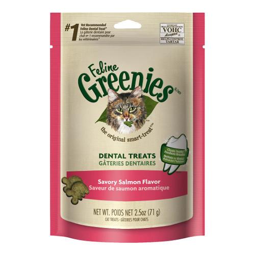 Greenies Feline Savory Salmon Flavor Dental Cat Treats