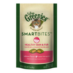 Greenies Feline SmartBites Healthy Skin & Coat Salmon Flavor Cat Treats