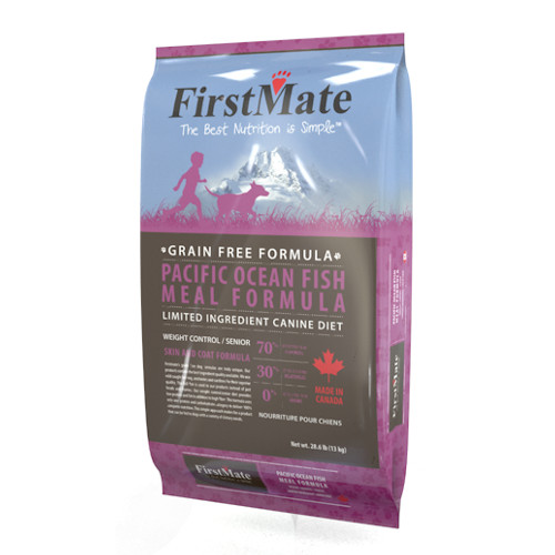 FirstMate Grain Free Pacific Ocean Fish Weight Control Senior Dry Dog Food