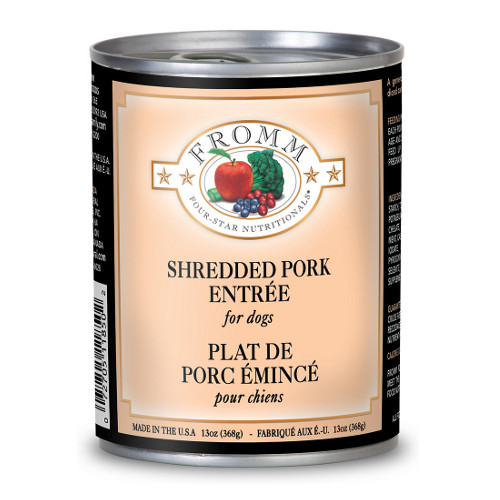 Fromm Four Star Shredded Pork Entree Canned Dog Food