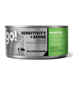 GO! SENSITIVITY + SHINE™ Grain Free Freshwater Trout + Salmon Pâté Recipe Canned Cat Food