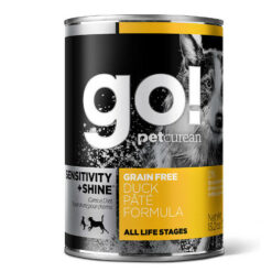GO! SENSITIVITY + SHINE™ Grain Free Duck Pâté Recipe Canned Dog Food