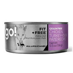 Go! Fit + Freel Grain Free Chicken,Turkey & Duck Pate Recipe Canned Cat Food