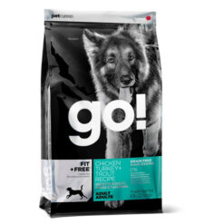 GO! FIT + FREE Grain Free Chicken, Turkey and Trout Dry Adult Dog Food