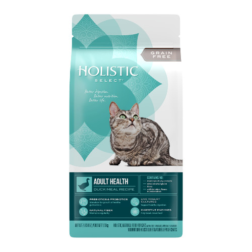 Holistic Select Adult Health Duck Meal Recipe Dry Cat Food
