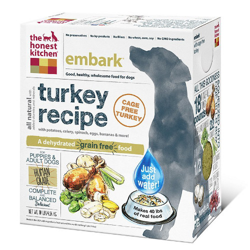 The Honest Kitchen Embark Turkey and Grain Free Dehydrated Dog Foods