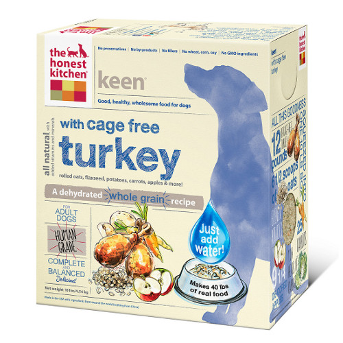 The Honest Kitchen Keen Turkey and Organic Grains Dehydrated Dog Foods