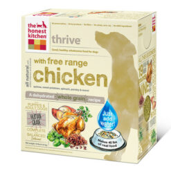 The Honest Kitchen Thrive Free Range Chicken and Gluten Free Dehydrated Dog Foods