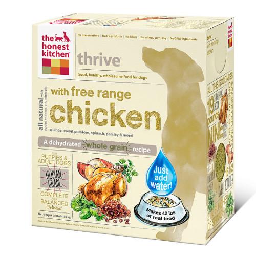 The Honest Kitchen Thrive Free Range Chicken and Gluten Free Dehydrated Dog Foods