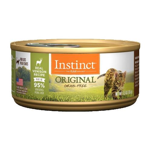 Nature's Variety Instinct Grain Free Venison Recipe Canned Cat Food