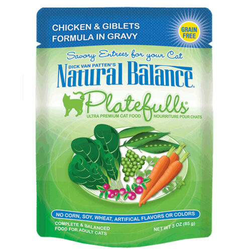 Natural Balance Platefulls® Chicken & Giblets Formula in Gravy Cat Pouch