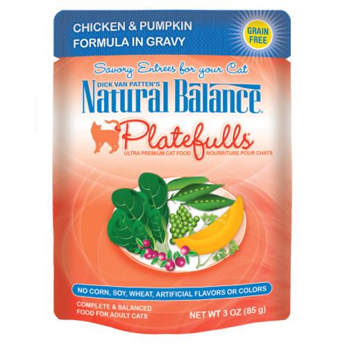 Natural Balance Platefulls® Chicken & Pumpkin Formula in Gravy Cat Pouch