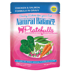 Natural Balance Platefulls® Chicken & Salmon Formula in Gravy Cat Pouch