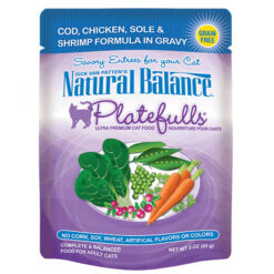 Natural Balance Platefulls® Cod, Chicken, Sole & Shrimp Formula in Gravy Cat Pouch