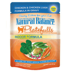 Natural Balance Platefulls® Indoor Chicken & Chicken Liver in Gravy Cat Pouch