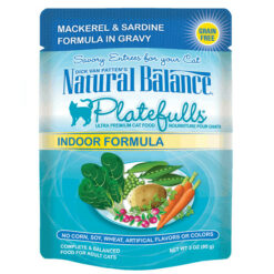 Natural Balance Platefulls® Indoor Mackerel & Sardine Formula in Gravy Cat Pouch