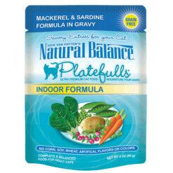 Natural Balance Platefulls® Indoor Mackerel & Sardine Formula in Gravy Cat Pouch