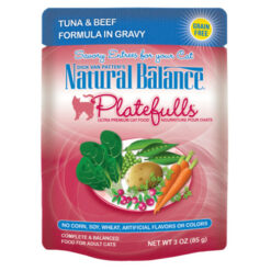 Natural Balance Platefulls® Tuna & Beef Formula in Gravy Cat Pouch