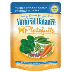 Natural Balance Platefulls® Turkey, Chicken & Duck Formula in Gravy Cat Pouch