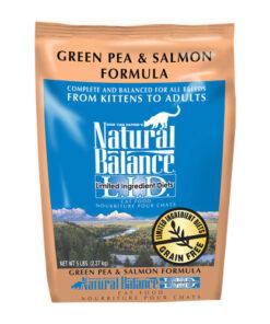 Natural Balance Grain Free Limited Ingredient Green Pea & Salmon Formula Dry Cat Food
