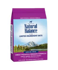 Natural Balance Grain Free L.I.D. Sweet Potato and Venison Dry Dog Food