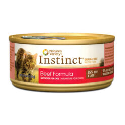 Nature's Variety Instinct Grain Free Beef Formula Canned Cat Food