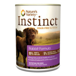 Nature's Variety Instinct Grain Free Rabbit Formula Canned Dog Food