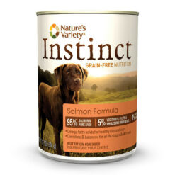 Nature's Variety Instinct Grain Free Salmon Formula Canned Dog Food