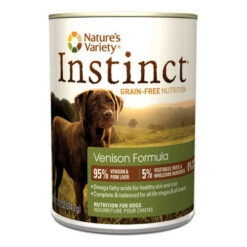 Nature's Variety Instinct Grain Free Venison Formula Canned Dog Food