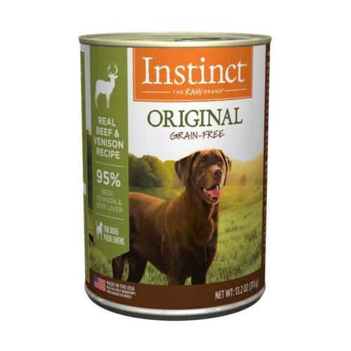 Nature's Variety Instinct Grain Free Venison Formula Canned Dog Food