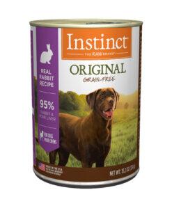 Nature's Variety Instinct Grain Free Rabbit Formula Canned Dog Food