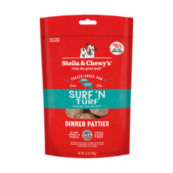 Stella & Chewy's Surf 'N Turf Dinner Patties Freeze-Dried Raw Dog Food