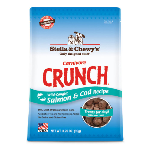 Stella & Chewy's Carnivore Crunch Wild-Caught Salmon & Cod Recipe Freeze-Dried Dog & Cat Treats