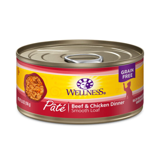 Wellness Pate Beef & Chicken Dinner Canned Cat Food