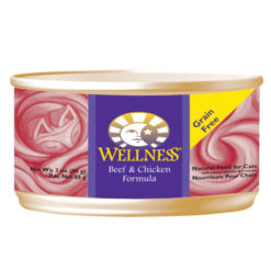 Wellness Beef & Chicken Formula Canned Cat Food