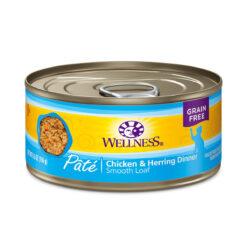 Wellness Pate Chicken & Herring Dinner Canned Cat Food