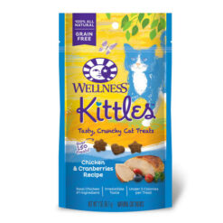 Wellness Kittles Grain-Free Chicken & Cranberries Recipe Crunchy Cat Treats
