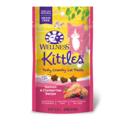 Wellness Kittles Grain-Free Salmon & Cranberries Recipe Crunchy Cat Treats
