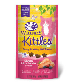 Wellness Kittles Grain-Free Salmon & Cranberries Recipe Crunchy Cat Treats