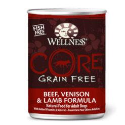 Wellness CORE Grain Free Beef, Venison & Lamb Formula Canned Dog Food