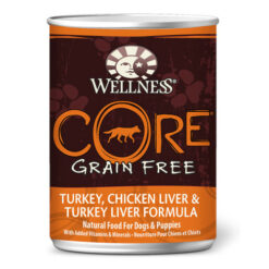 Wellness CORE Grain Free Turkey, Chicken Liver and Turkey Liver Formula Canned Dog Food