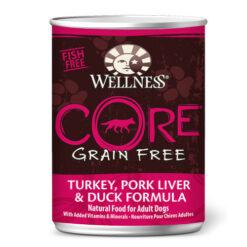 Wellness CORE Grain Free Turkey, Pork Liver & Duck Formula Canned Dog Food