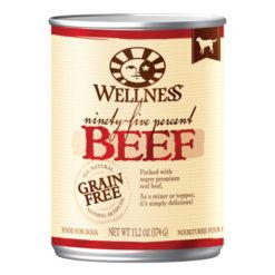 Wellness Grain Free 95% Beef Canned Dog Food