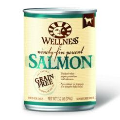 Wellness Grain Free 95% Salmon Canned Dog Food