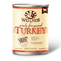 Wellness Grain Free 95% Turkey Canned Dog Food